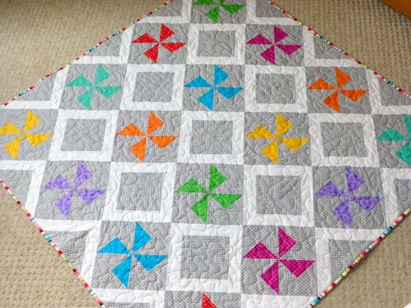 Pinwheel Fun Baby Quilt Just Jude Designs Quilting