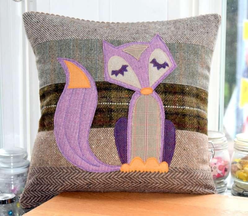 Tweed Fox Cushion